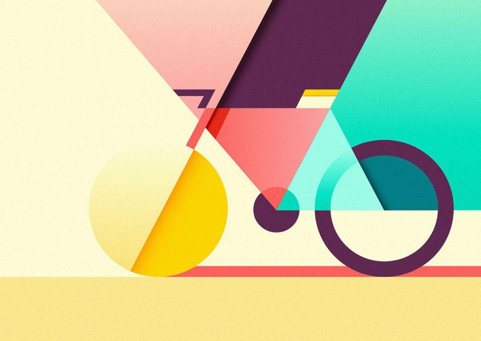 Arte de uma bicicleta
