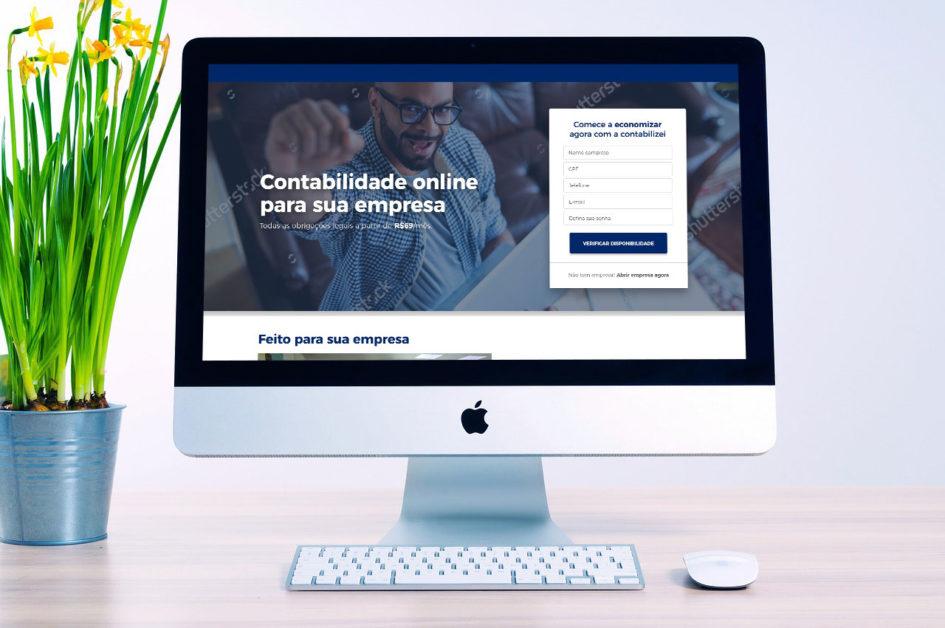 Landing page da Contabilizei - Estudo de Caso