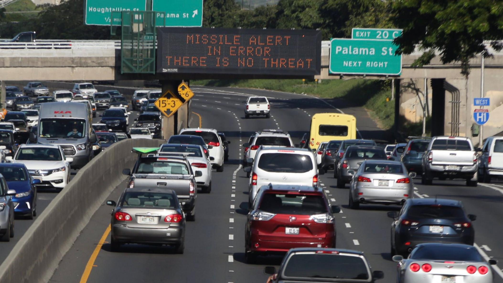 Havaí com um Alerta de Míssil Falso